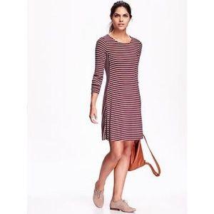 🧚♀️Old Navy Long Sleeve Striped Swing Dress
